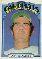 1972 Topps Baseball Cards      353     Art Shamsky